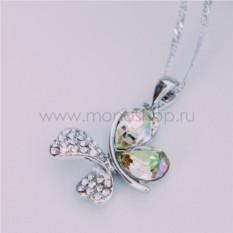 Кулон с кристаллами Сваровски цвета шампань Кассандра