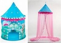 Палатка-трансформер с балдахином Домик принцессы