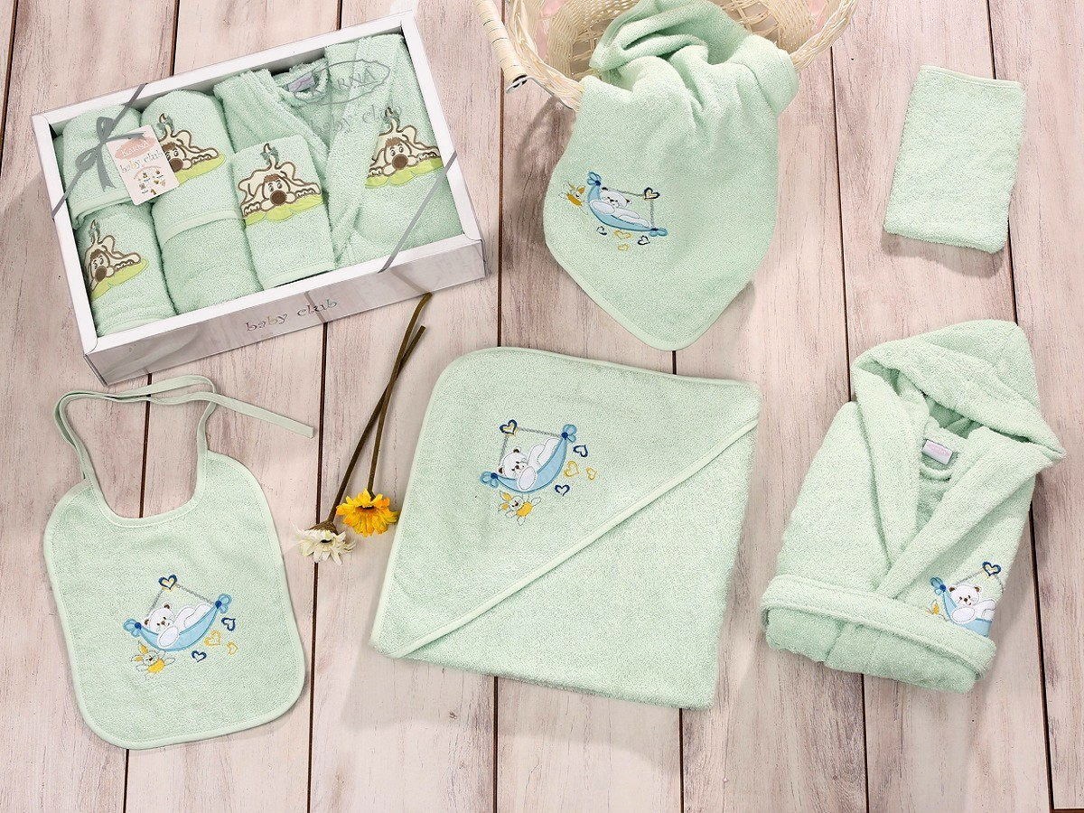 Зеленый набор для купания Baby club