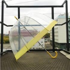 Прозрачный зонт Желтый купол