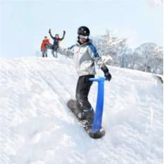 Синий снежный самокат
