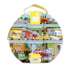 Крупный пазл «Транспорт» в круглом чемоданчике