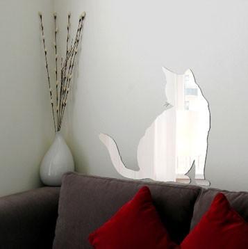 Декоративное зеркало Кот и его хвост