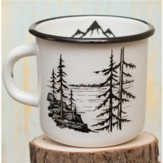 Эмалированная кружка Лес и горы