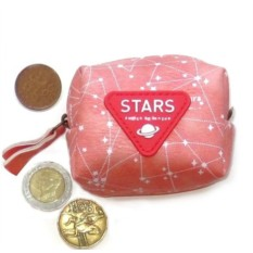 Розовый кошелек для мелочи Stars