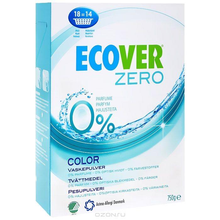 Экологический стиральный порошок Ecover Zero, для цветного белья, 750 г
