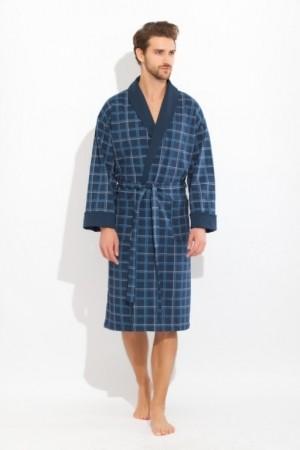 Трикотажный мужской халат Peche monnaie Europe Blue