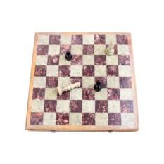 Шахматы из натурального камня 35х35 см