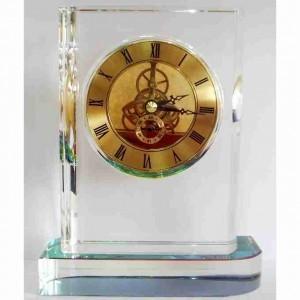 Настольные прозрачные часы из литого кварцевого стекла