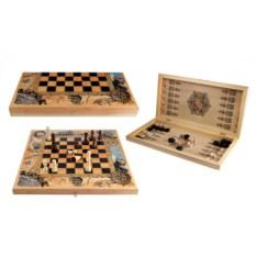 Подарочный набор Заморский: шахматы, шашки, нарды
