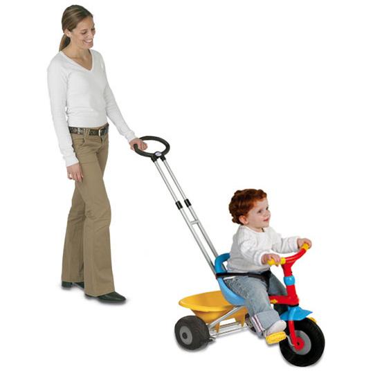 Трёхколёсный велосипед с ручкой Baby Driver, SMOBY