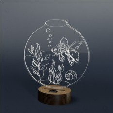 3D светильник Onilight Аквариум