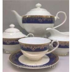 Чайный сервиз Japonica Сапфир на 6 персон (17 предметов)