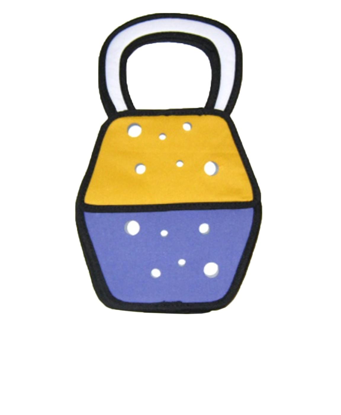 Сумка Мультик, фиолетово-желтая
