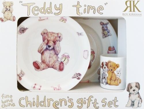 Набор детской посуды Тедди тайм для девочки (3 предмета)