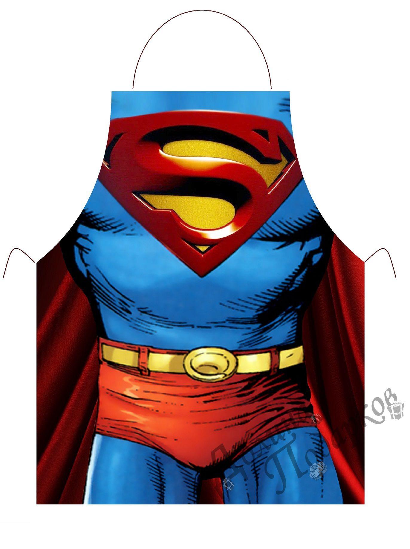 Прикольный фартук Супермен