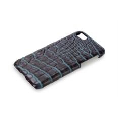 Темно-синий чехол из кожи крокодила на Iphone 7/8