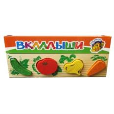 Деревянная рамка-вкладыш Овощи