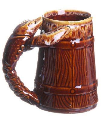 Кружка для пива Рак, коричневая