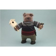 Авторская игрушка Медведь – строитель