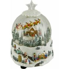 Музыкальная новогодняя композиция Зимний шар с санями