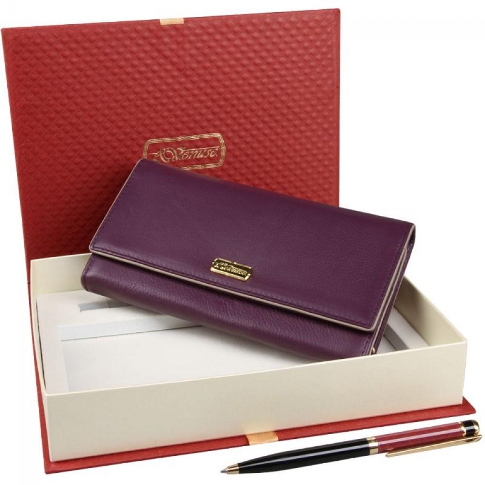 Подарочный женский набор из кошелька и ручки