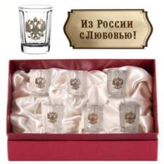 Набор стопок Герб. Из России с любовью!