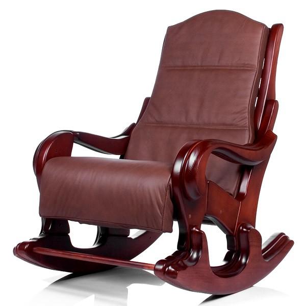 Кресло-качалка с подушкой Классика - махагон