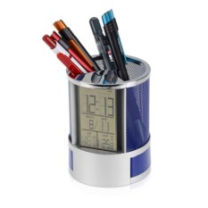 Подставка под ручки Менеджер с часами и ящиками