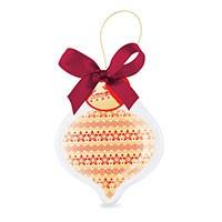 Елочная игрушка из шоколада «Сосулька»