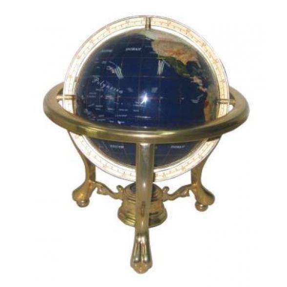 Каменный глобус (синий), 15 см