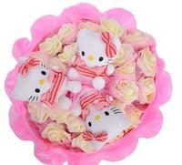 Букет из игрушек Котята с розами