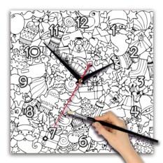Часы-раскраска в форме квадрата