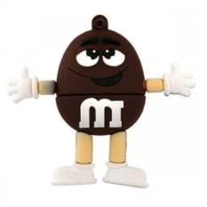 Флешка M&M`s (цвет — коричневый)