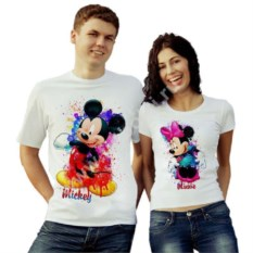 Парные футболки Mickey и Minnie