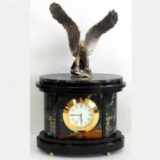 Настольные часы из яшмы Бронзовый орёл