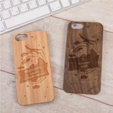 Деревянный чехол для iPhone Путешествие с гравировкой