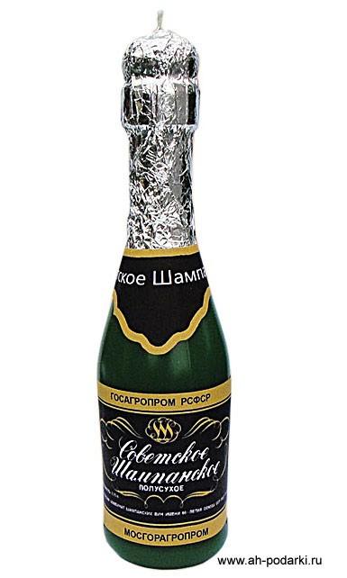 Декоративная свеча Шампанское