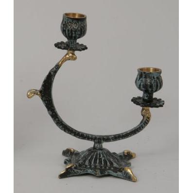 Пара канделябров на 2 свечи из бронзы Virtus