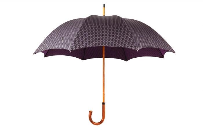 Зонт Mario Talarico, фиолетовый с узором