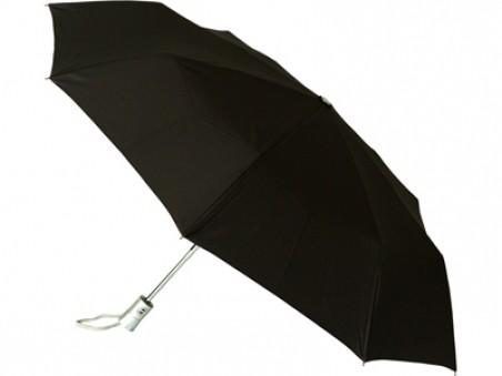 Черный складной автоматический зонт