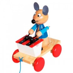 Каталка-мышка с ксилофоном