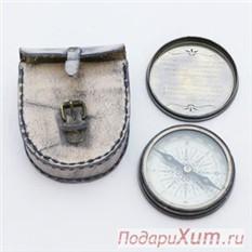 Компас Миклухо-Маклайв кожаном чехле