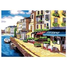 Картина-раскраска на холсте Таверна