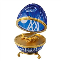 Яйцо хрустальное Аэроплан
