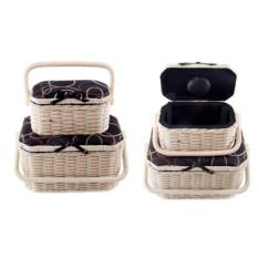 Набор плетеных шкатулок для рукоделия