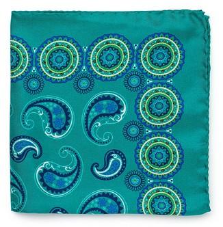 Бирюзовый шёлковый платок Roda