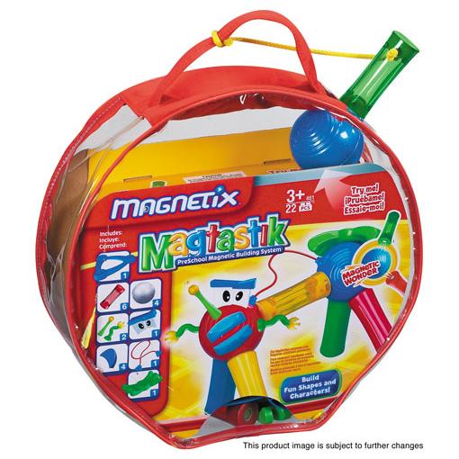 Магнитный конструктор в круглой сумочке