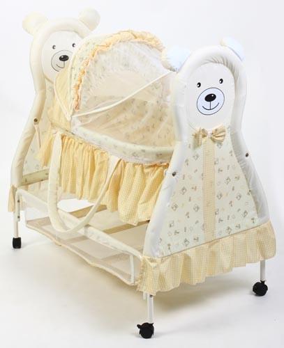 Кровать-колыбель Lider Kids, цвет: бежевый/желтые полоски