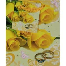 Подарочный пакет Желтые розы